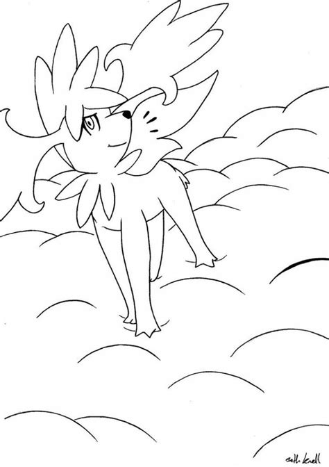 pokemon coloring pages shaymin shaymin sky form coloring pages az coloring pages