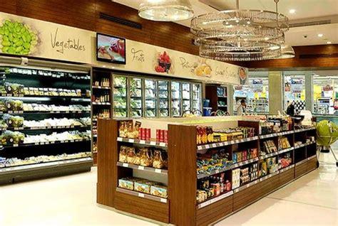 u shaped retail grocery store interior design of gourmet