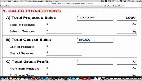 template revenue 8 revenue projection template sletemplatess