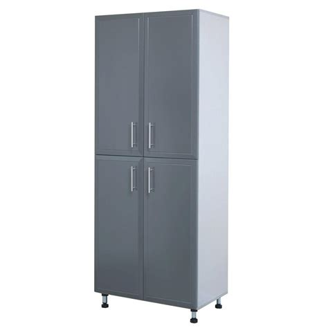 closetmaid progarage 4 door laminated storage cabinet in