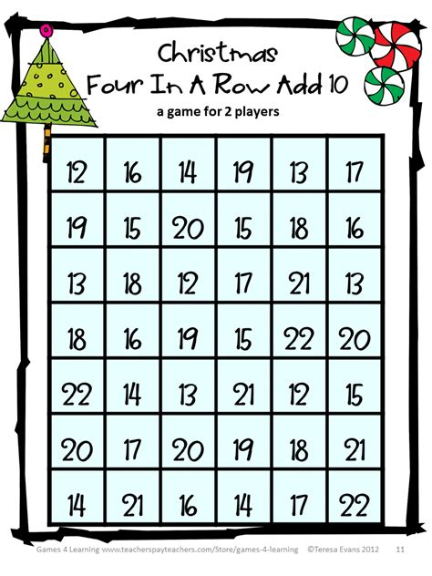 printable maths board games year 1 fun games 4 learning christmas math games