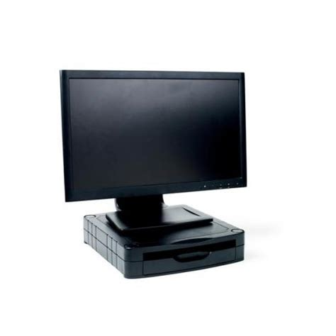 Ccs Kaos Croop Code Bl 06 67mm stackable monitor screen riser with drawer black ccs25307