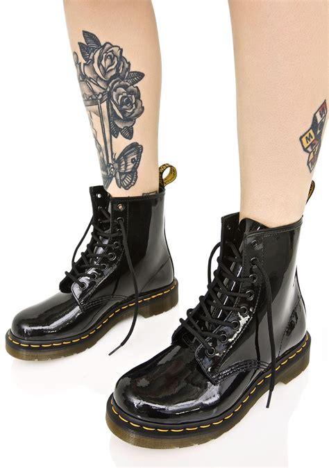 Dr Martens 1460 dr martens black patent 1460 8 eye boots dolls kill