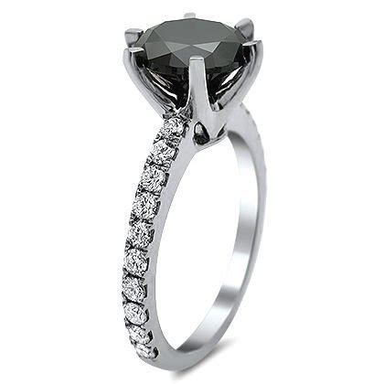 Golden Black Sapphire 18 10ct 3 10ct black engagement ring 18k white gold