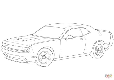 Coloring Page 2018 by Dodge Challenger 2018 Coloring Page Free Printable