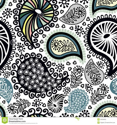 abstract pattern doodles abstract seamless doodle pattern stock illustration