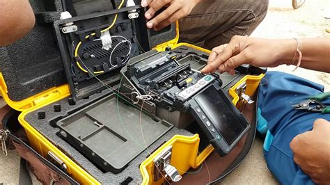 fiber optic splicing table splicing of fiber optic cable youtube