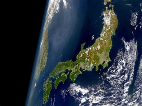 japon imagenes satelitales nasa japan