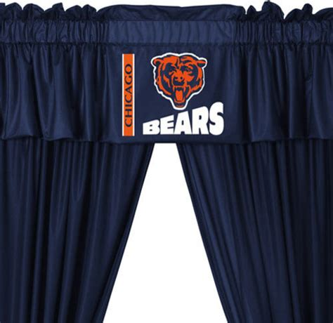 chicago bears shower curtain nfl chicago bears football 5 piece valance curtains set
