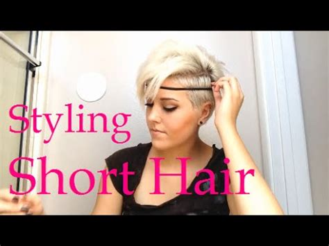 different styles or ways to fix human hair how to style really short hair youtube