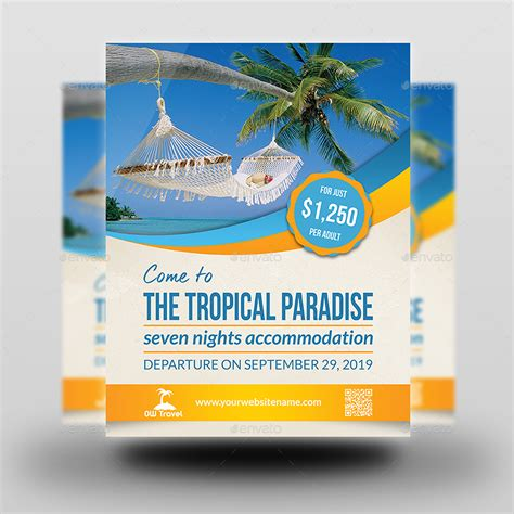 tour flyer template tour and travel advertising bundle by owpictures