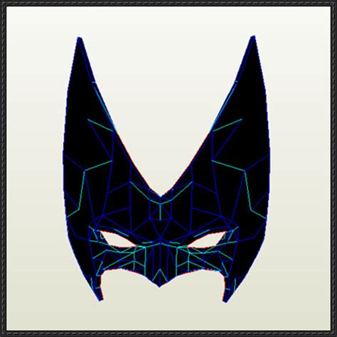 Papercraft Batman Mask - dc comics size batwoman mask for free