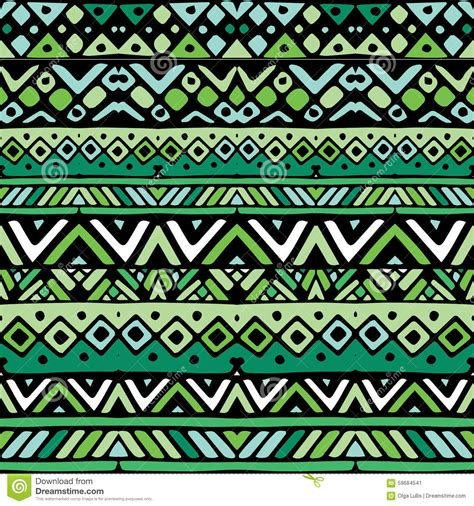 Tribal Stripes Green green ethnic mexican tribal stripes seamless pattern stock vector illustration of