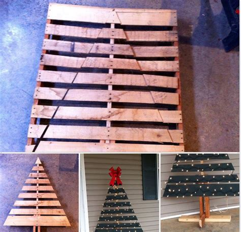christmas decorations made from wood pallets tree made from pallets pallet projects pallets tree and