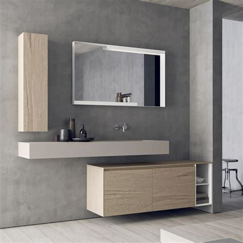 Modern Wall Mounted Bathroom Furniture Set Calix Novello Wall Mounted Bathroom Furniture