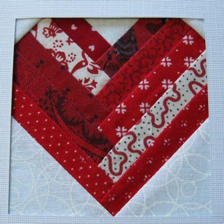 pattern for log cabin heart quilt log cabin shaped heart quilt block quilts pinterest