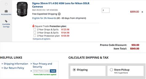 len discount today only 50 sigma lenses and many other deals