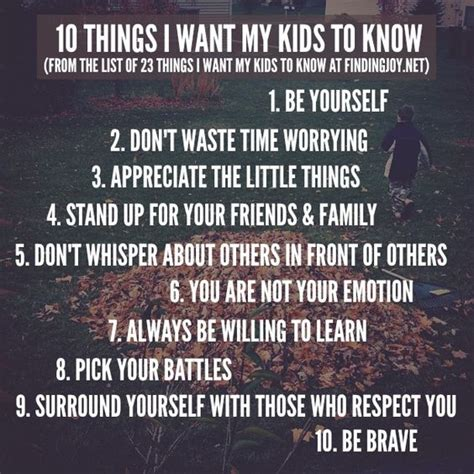 these are the things that matter parenting words of wisdom my children pay
