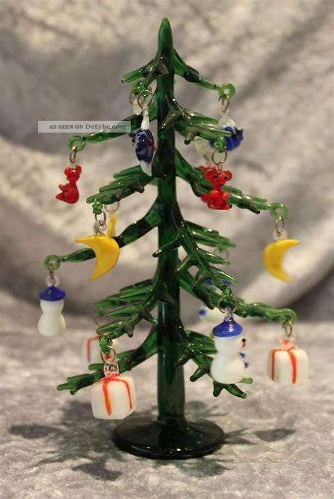 tannenbaum kerzenhalter glas murano glas tannenbaum weihnachtsbaum mit anh 228 ngern