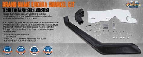Name Brand Kokoda Snorkel Kit to Suit Toyota 200 series