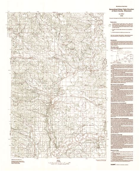 the location of the water table is subject to change wisconsin geological history survey