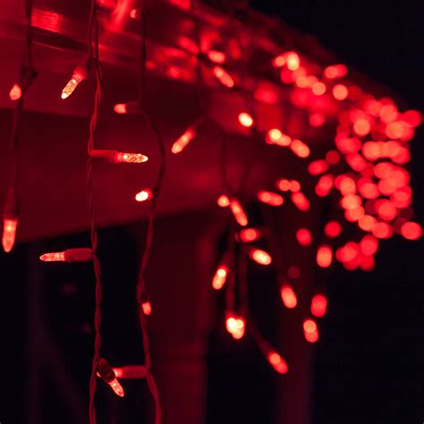 led christmas lights 70 m5 red led icicle lights
