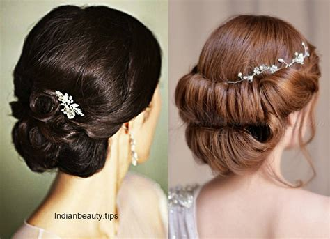 Bridal Bun Hairstyles by 30 Bridal Updo Hairstyles Indian Tips