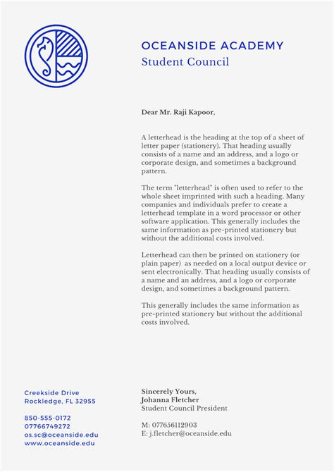 business letterhead creator create your own letterhead free printable letterhead
