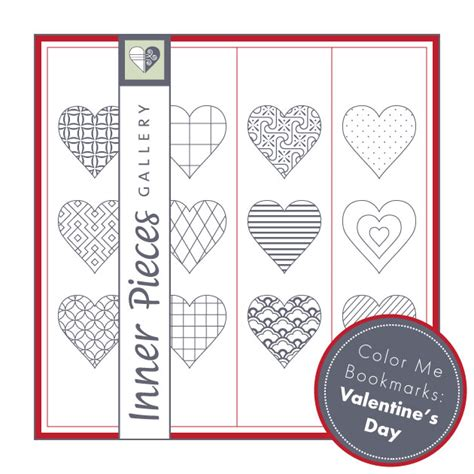 printable bookmarks valentine s day valentine s day bookmarks for kids inner pieces gallery