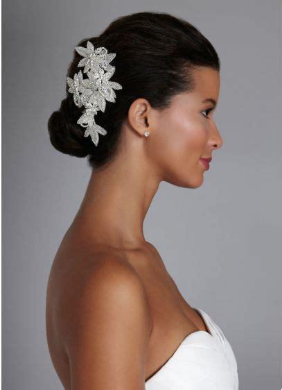 Rhinestone Hair Clip floral inspired rhinestone hair clip with david s