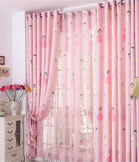 pink girl curtains bedroom pink princess blackout window curtains for kids girls