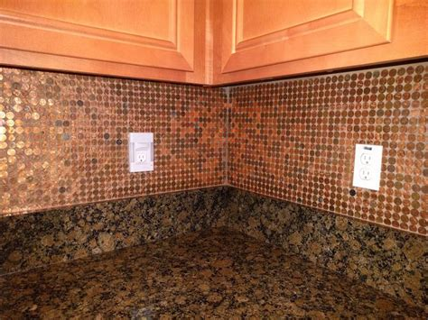 make a penny backsplash for an expensive look creative ideas 355 best penny for your project images on pinterest
