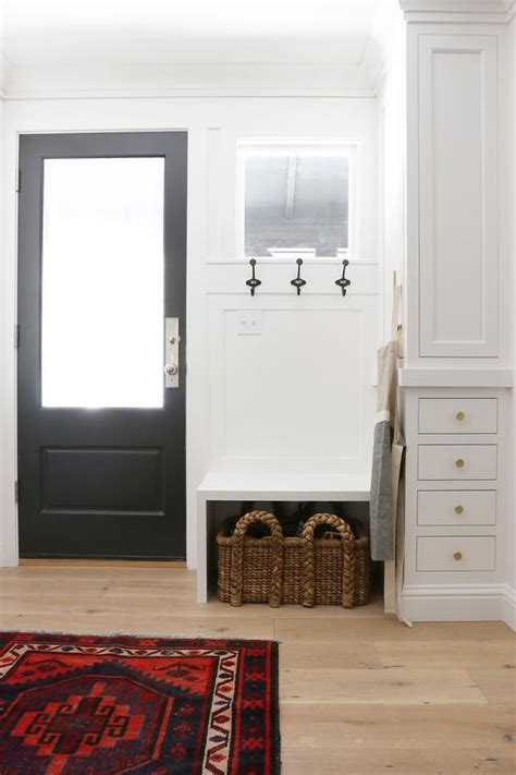 built  bench   black  door transitional