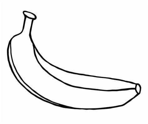 banana template printable banana color page coloring home