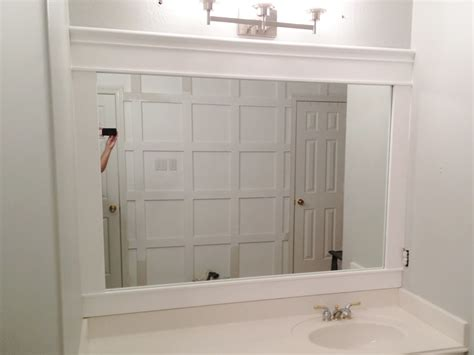 White Framed Mirrors For Bathrooms White Framed Mirror For Bathroom And Vanity Decofurnish