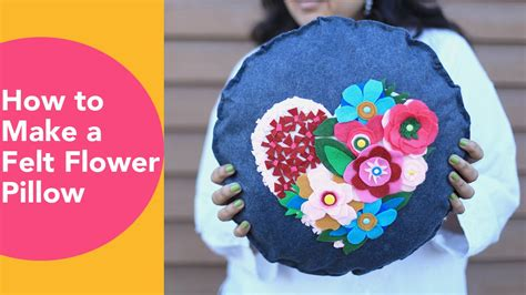 felt crafts for no sew how to make a felt flower pillow no sew cushion diy felt