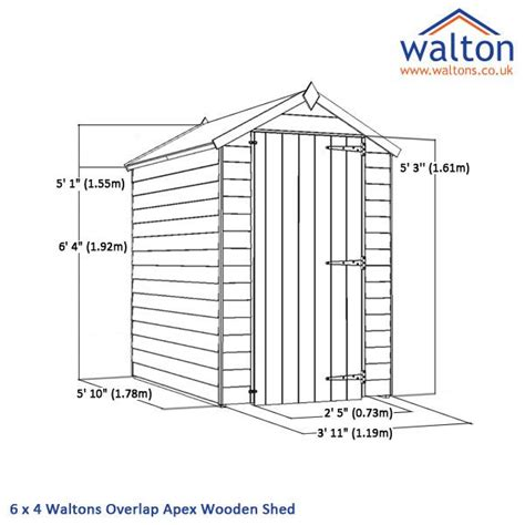 Garden Shed Dimensions by Shed Plans Vipshed Dimensions Cheap Garden Shed Plans
