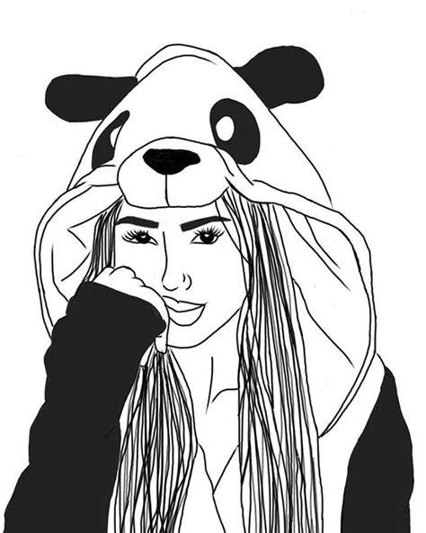 Panda Outline Drawing by 434 Best O U T L I N E S Images On