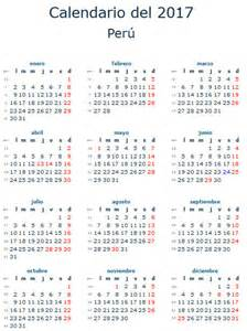 Calendario 2018 Peru Calendario Laboral 2017 Para Per 250 Calendario 2017