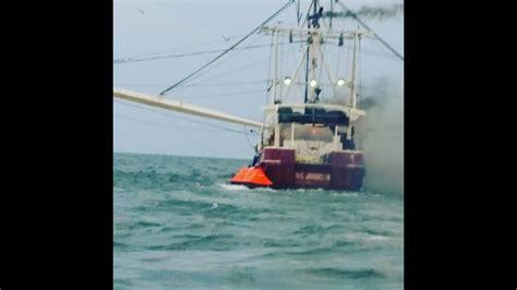 shrimp boat pne 3 people evacuated from shrimp boat fire on st marys