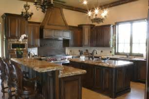 Black Stained Kitchen Cabinets by Two Tones Style With Kitchen Colors With Wood