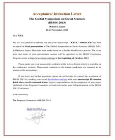 Acceptance Letter Invitation Sle Formal Invitation Letter 11 Exles In Word Pdf