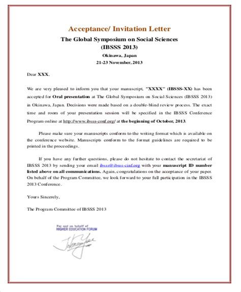 How Do You Write An Invitation Letter For Visa sle formal invitation letter 11 exles in word pdf
