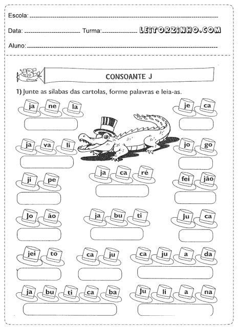 Atividades 1° ano para imprimir de português, matemática e