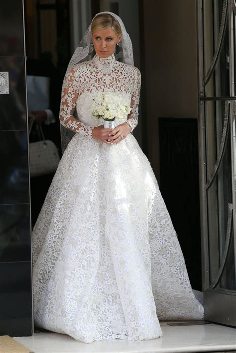 nicky hilton wedding dress nicky hilton s wedding dress popsugar fashion