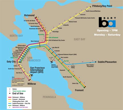 bart system map sfo what my options on getting between san francisco and san jose travel stack exchange