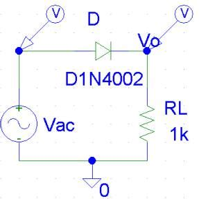 rectifier diode pspice exle 2