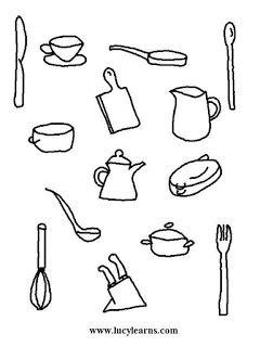 Preparados , listos , a cocinar !!: Fichas para colorear