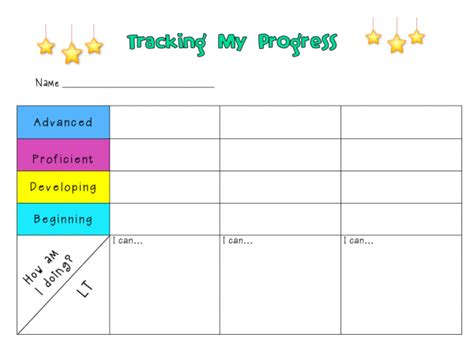 Tracking Progress Ms Houser Tracking Student Progress Template