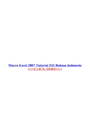 tutorial macro excel bahasa indonesia pdf ebook vba excel 2007 bahasa indonesia fill online